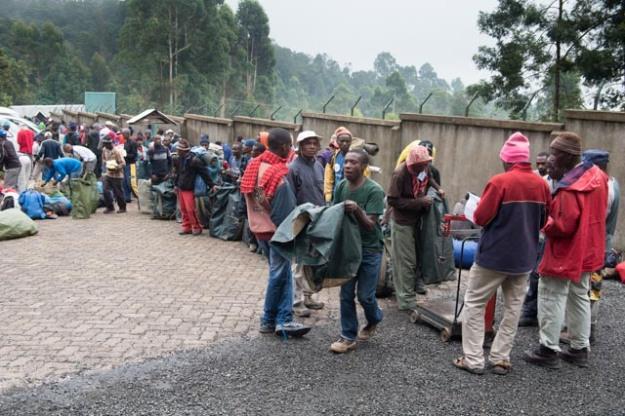 Kilimanjaro Porters Weighing Bags