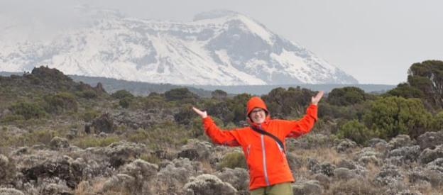 Me holding up Uhuru Peak