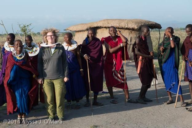 Alyssa in the Maasai Welcome Dance