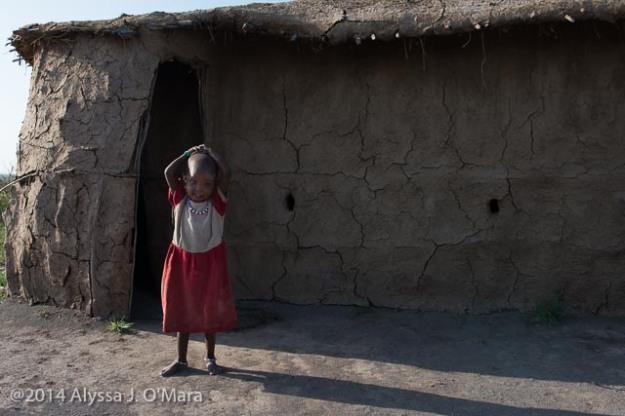 Maasai Girl in Front of Boma- Alyssa O'Mara